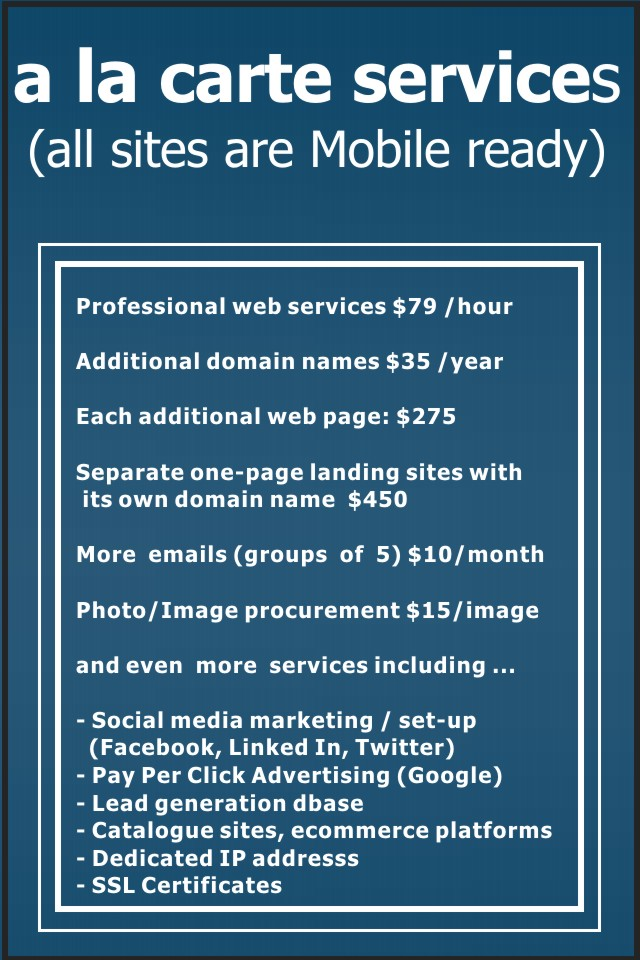Additional web based services